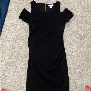 Cold shoulder dress- worn once- maternity